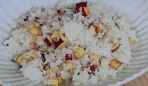 中居正広のニュースな会:ギャル曽根のサツマイモとチーズの炊き込みご飯のレシピ!