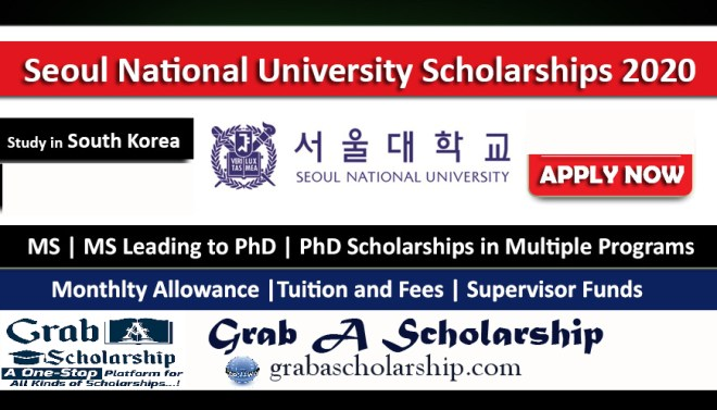 Seoul National University Scholarship 2020