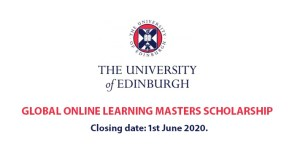 Edinburgh University Online Masters Scholarship