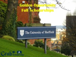 University of Sheffield Scholarships 2020