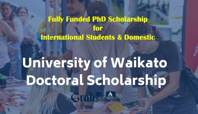 University of Waikato PhD Scholarship