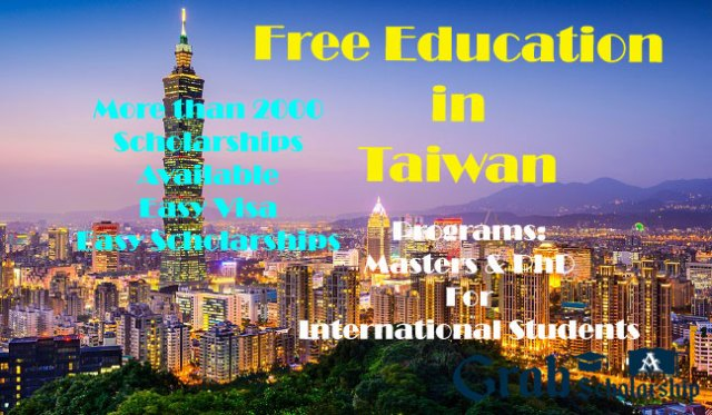 Taiwan Scholarships for international students