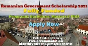Romanian Government Scholarship 2021