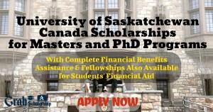 University of Saskatchewan Canada Scholarships