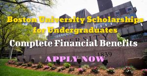 boston university scholarships