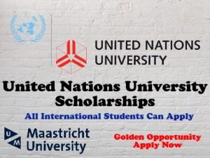 United Nations University Scholarships