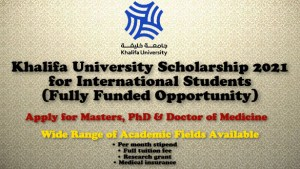 Khalifa University scholarship 2021