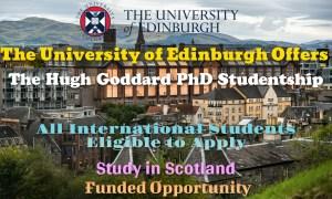 The Hugh Goddard PhD Studentship