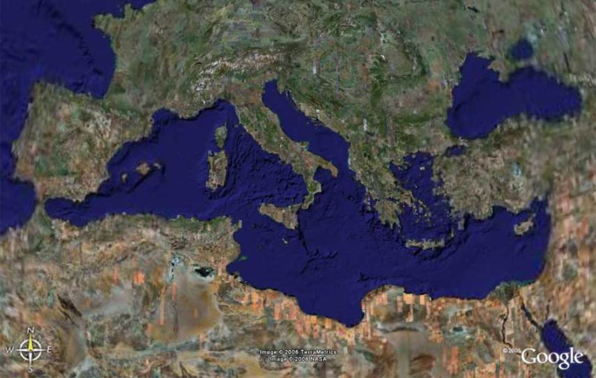 Mediterranean Basin by Google Earth   maps   views   Grabov Rat Mediterranean Basin by Google Earth