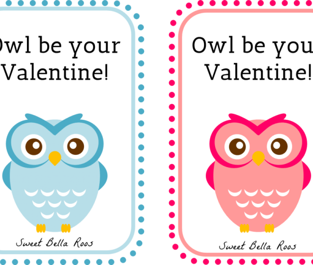 Owl Be Your Valentine Free Printable Sweet Bella Roos Printable Owl Pink