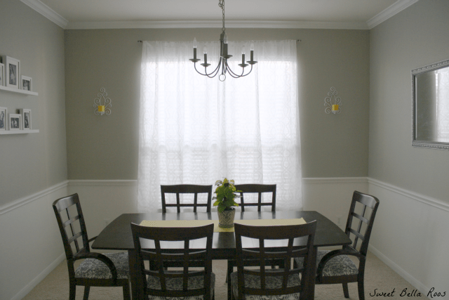 Dining room before and after- amazing what a little paint can do!