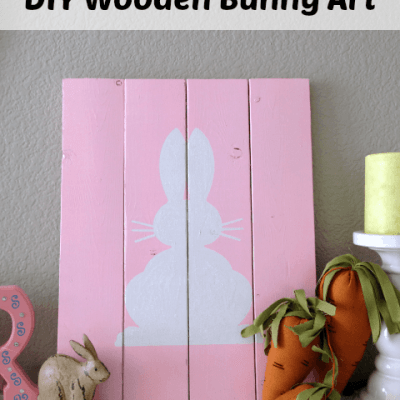 Easy DIY Wooden Bunny Art