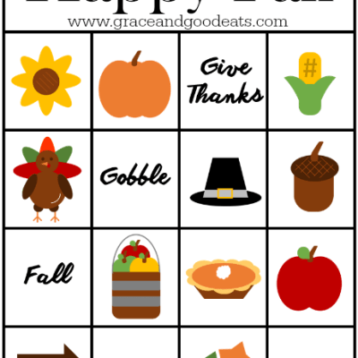 Happy Fall Bingo Cards