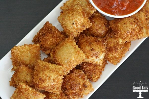 These Fried Ravioli are perfectly poppable and shareable as an appetizer or game day eat, but filling enough to serve with a salad for dinner.