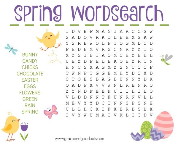 Spring Word Search – Free Printable