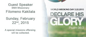 Wold Mission's Day 2015