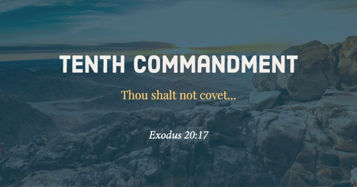 Tenth Commandment