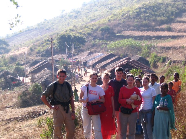 """Tribal"" mountain village ministry near Paderu, India. (2006 - I'm on the far left)"