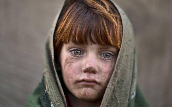 Little Girl. Muddy Face