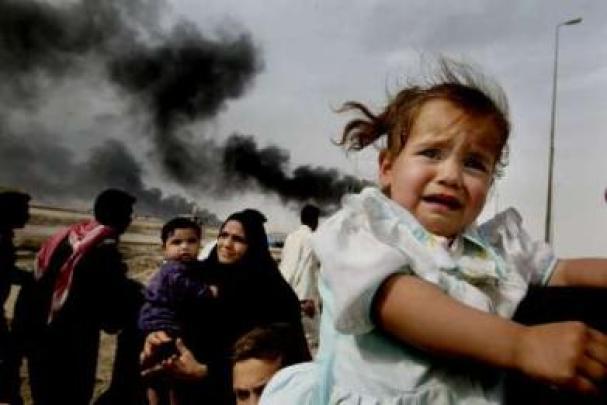 refugees. Little Girl