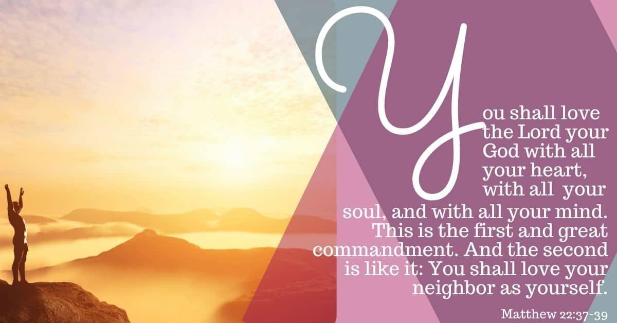 "Bible Memory Verses: ""Y"" Matthew 22:37-39"