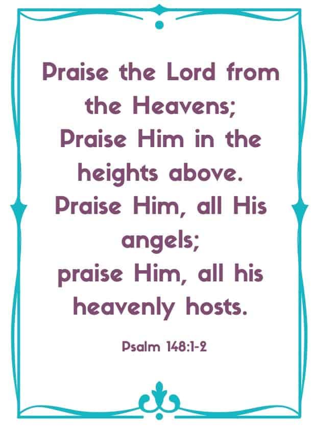 "Bible Memory Verses: ""P"" Psalm 148: 1-5"