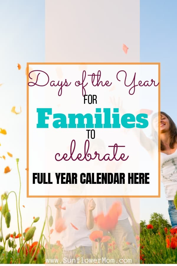 Days of the Year for Families to Celebrate