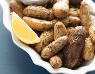 Lemon Dill Sauce & Roasted Potatoes