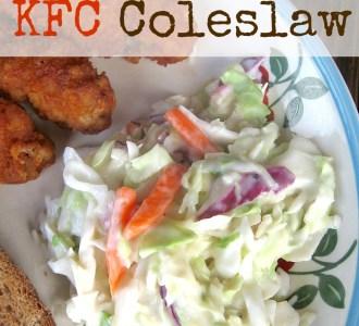 Copycat KFC Coleslaw on gracefullittlehoneybee.com
