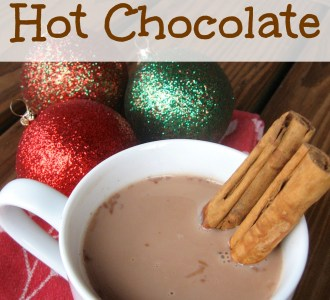 Slow Cooker Hot Chocolate on gracefullittlehoneybee.com