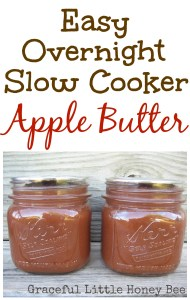 Easy Overnight Slow Cooker Apple Butter on gracefullittlehoneybee.com