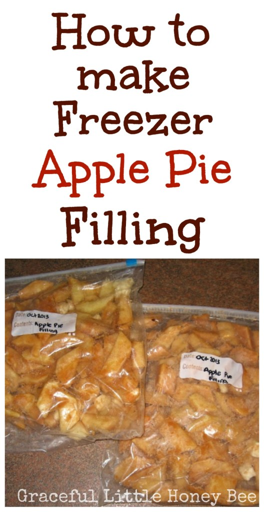 This freezer apple pie filling is an easy and delicious way to use in season or on sale apples!