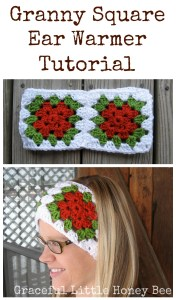 Granny Square Ear Warmer Tutorial on gracefullittlehoneybee.com