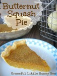Butternut Squash Pie on gracefullittlehoneybee.com