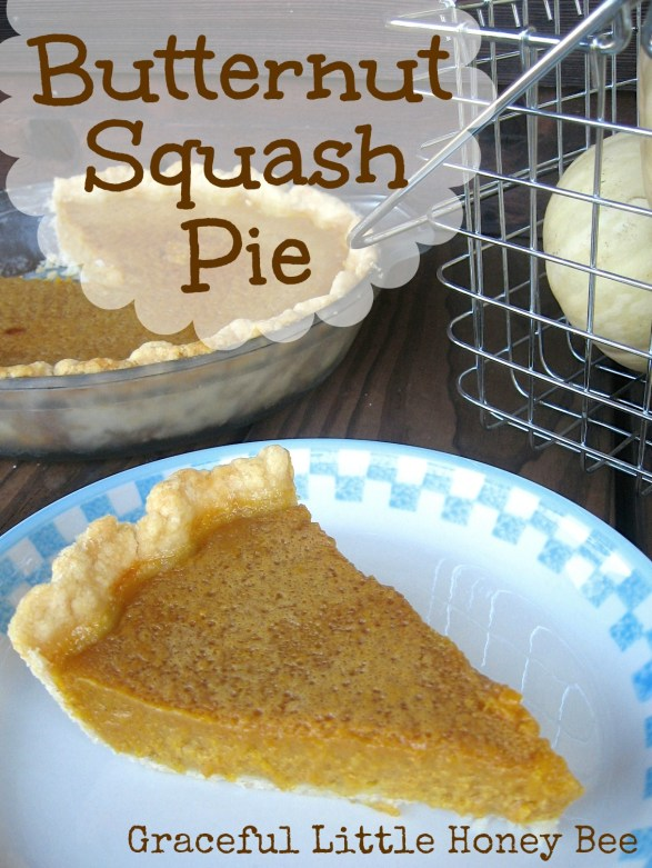 This pie is a great alternative to pumpkin especially if you've grown the squash yourself!