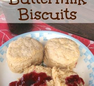 Homemade Buttermilk Biscuits on gracefullittlehoneybee.com