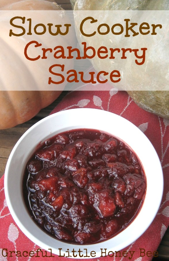 This slow cooker cranberry sauce comes together fast and makes your house smell amazing!