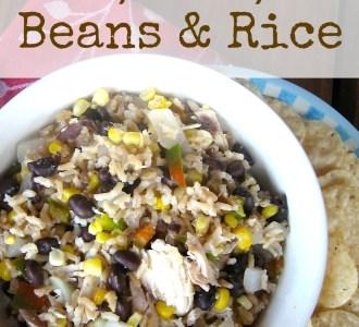 Super Simple Beans & Rice on gracefullittlehoneybee.com