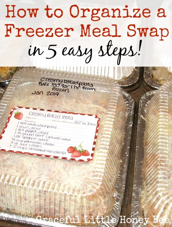 Organizing a freezer meal swap is easy and fun! Plus, it's awesome having a freezer full of meals that you didn't even have to make yourself!
