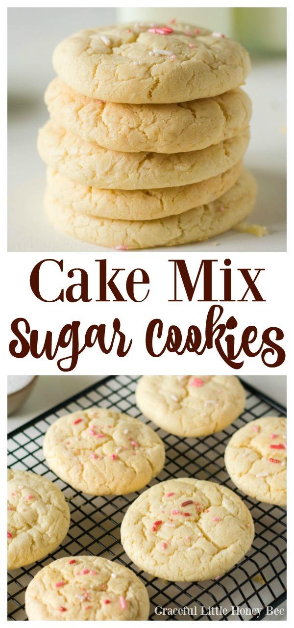 3 ingredient yellow cake mix cookies