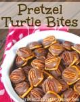 Pretzel Turtle Bites in white bowl.