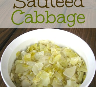 Basic Sautéed Cabbage on gracefullittlehoneybee.com