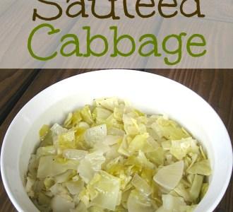Basic Sautéed Cabbage on gracefullittlehoneybee.com