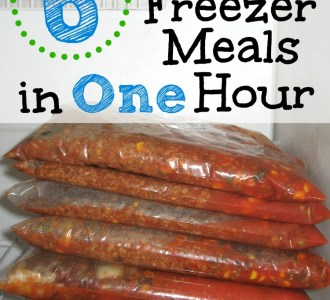 6 Healthy Freezer Meals in ONE Hour on gracefullittlehoneybee.com