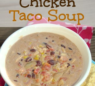 Slow Cooker Chicken Taco Soup on gracefullittlehoneybee.com