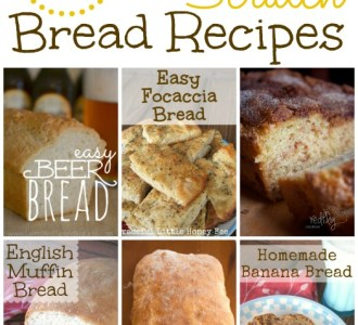 20 From Scratch Bread Recipes on gracefullittlehoneybee.com