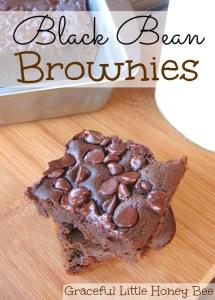 Black Bean Brownies on gracefullittlehoneybee.com