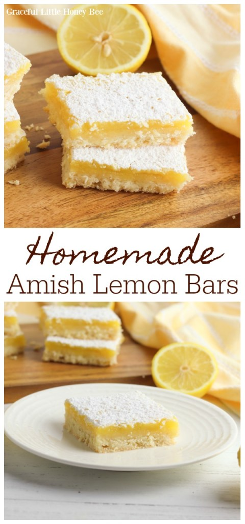 Lemon bars topped with powdered sugar on a wooden cutting board.