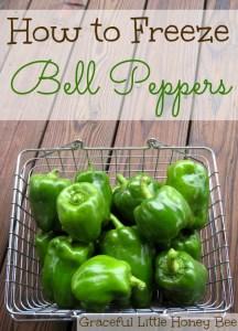 How to Freeze Bell Peppers on gracefullittlehoneybee.com