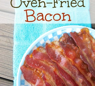 Quick & Easy Oven-Fried Bacon on gracefullittlehoneybee.com